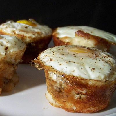 Mashed potato egg 'boats'.