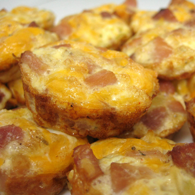 Mini Ham and Cheese Frittatas - a healthy snack packed with flavor.