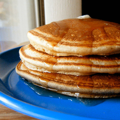 Healthy, low carb pancakes! They're gluten-free and dairy-free.