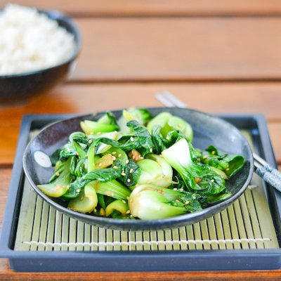 Easy and simple stir-fried sesame bok choy.