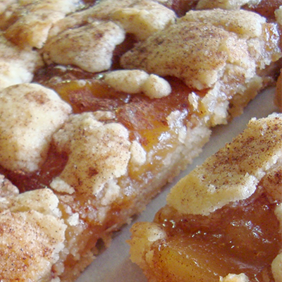Easy apple pie snickerdoodle cookie bars.