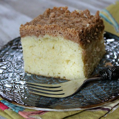 Classic Crumb Cake - tender cake with a generous, buttery layer of crumb topping.