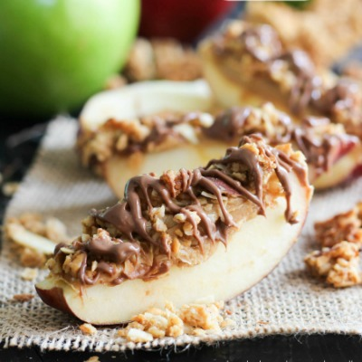 Loaded Apple Slices - A delicious snack that is mainly healthy and simple to make. An apple a day....